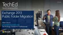 Microsoft Exchange Server 2013 Public Folder Migration