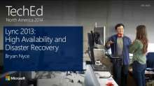 Microsoft Lync Server 2013 High Availability and Disaster Recovery