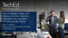How to Rapidly Design and Deploy an Active Directory Federation Services Farm: The Do's and the Don'ts