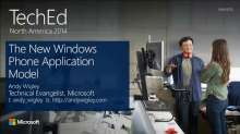 The New Windows Phone Application Model
