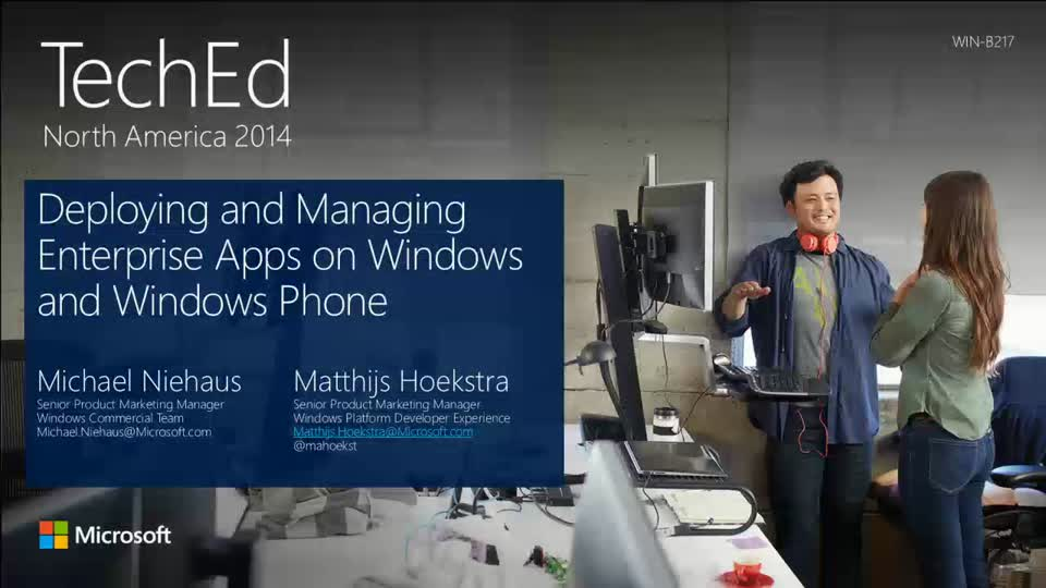 Deploying and Managing Enterprise Apps on Windows and Windows Phone