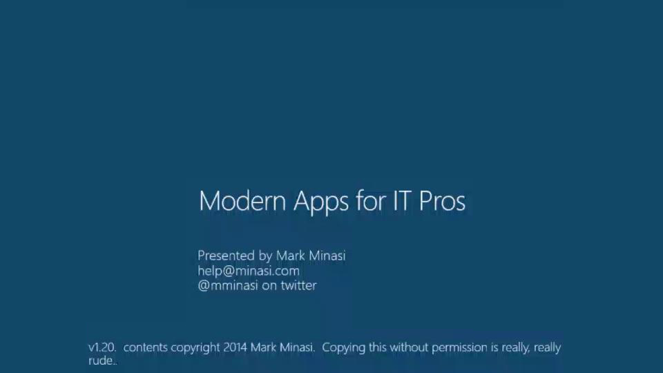 Modern Applications for IT Pros