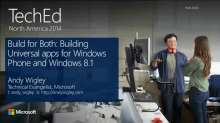 Build for Both: Building Shared Apps for Windows Phone and Windows 8.1