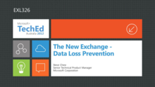 The new Exchange - Data Loss Prevention
