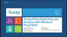 Group Policy Reporting and Analysis with Windows PowerShell