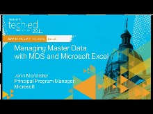 Managing Master Data with MDS and Microsoft Excel