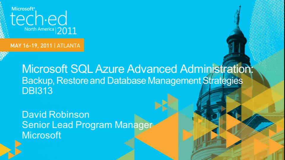 Microsoft SQL Azure Advanced Administration: Backup,Restore and Database Management Strategies for Cloud Databases