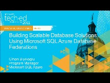 Building Scalable Database Solutions Using Microsoft SQL Azure Database Federations