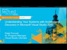 Understanding Your Systems with Architectural Discovery in Microsoft Visual Studio 2010