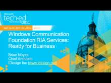 Windows Communication Foundation RIA: Ready for Business