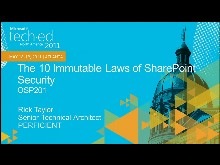 The Ten Immutable Laws of Microsoft SharePoint Security
