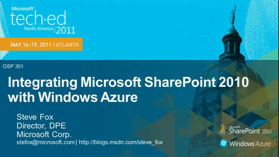 Integrating Microsoft SharePoint 2010 with Windows Azure