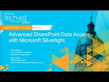 Advanced SharePoint Data Access with Microsoft Silverlight