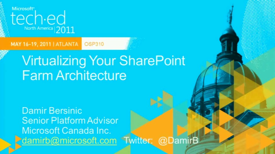Virtualizing Your SharePoint Farm Architecture