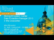 Microsoft System Center Data Protection Manager 2010 in the Datacenter