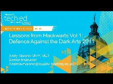 Lessons from Hackwarts Vol 1: Defense against the Dark Arts 2011 (Repeated from 5/18 at 5pm)