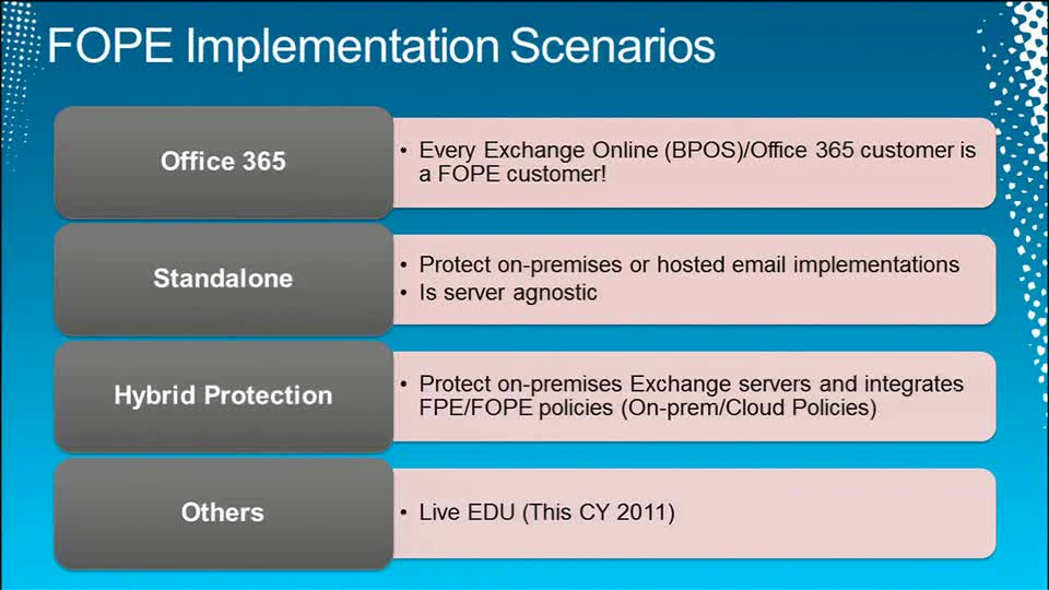 Microsoft Forefront Online Protection for Exchange Advanced Routing Scenarios Deep Dive