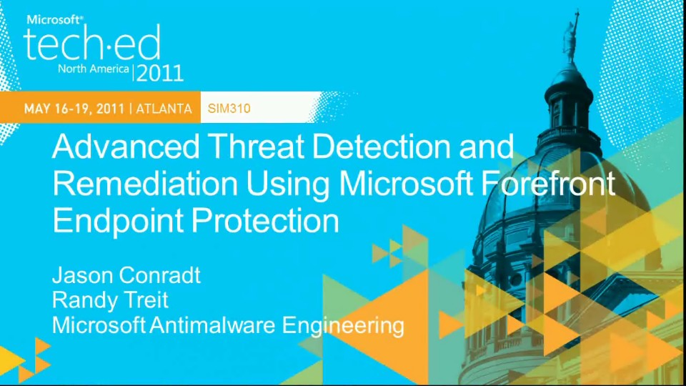 Advanced Threat Detection and Remediation Using Microsoft Forefront Endpoint Protection