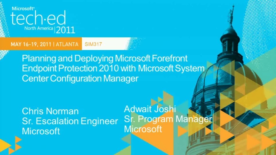 Planning and Deploying Microsoft Forefront Endpoint Protection 2010 with Microsoft System Center Configuration Manager