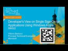 Developer's View on Single Sign-On for Applications Using Windows Azure