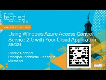 Using Windows Azure Access Control Service 2.0 with Your Cloud Application