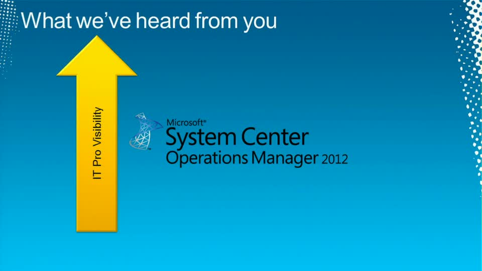Microsoft System Center Operations Manager 2012: Overview