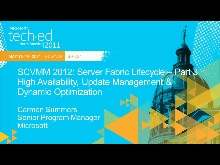 Microsoft System Center Virtual Machine Manager 2012: Server Fabric Lifecycle, Part 3 - Cluster Creation, Update Management