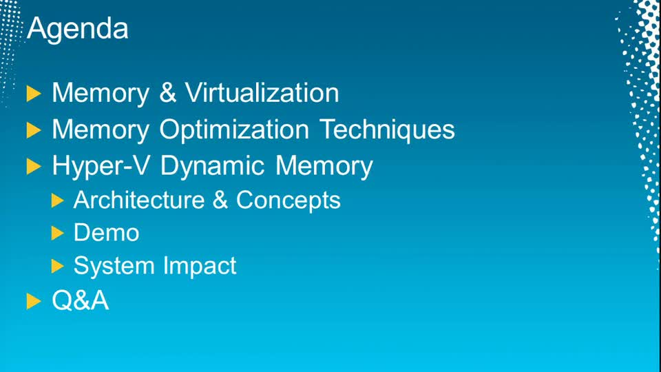 Hyper-V and Dynamic Memory in Depth