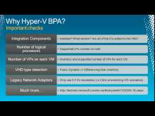 Hyper-V R2 Healthcheck (Configuration and Performance)