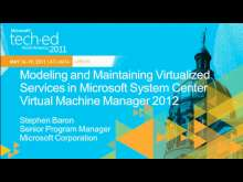 Modeling and Maintaining Virtualized Services in Microsoft System Center Virtual Machine Manager 2012