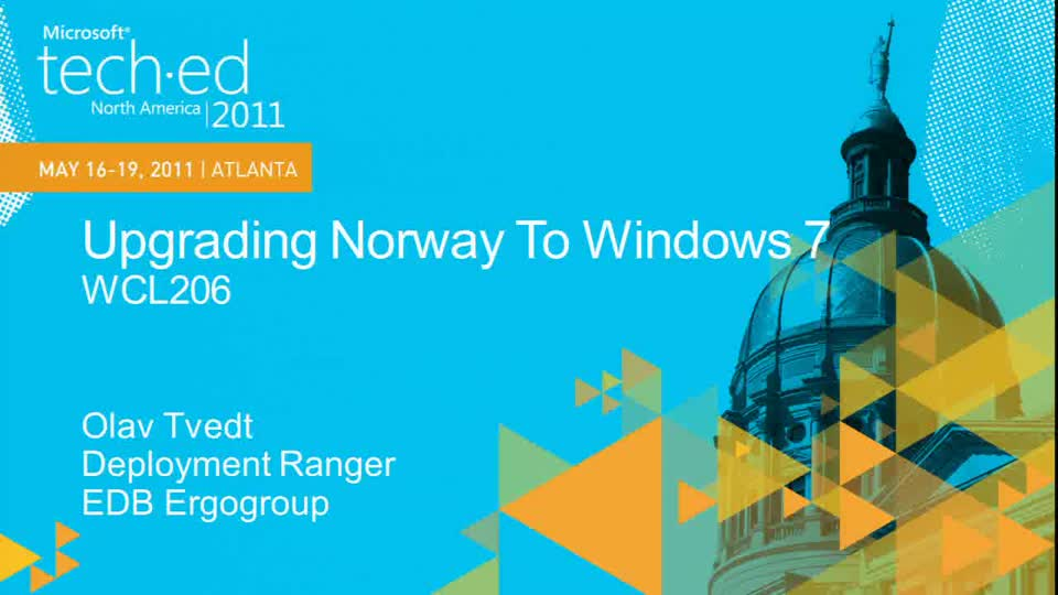 Upgrading Norway to Windows 7 (Repeats on May 19 at 2:45pm)