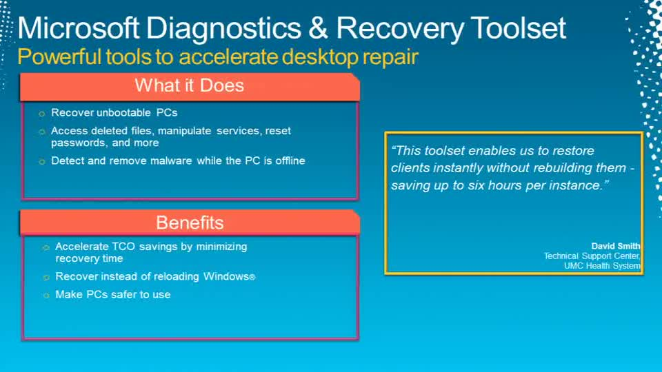 Solving Common IT Pro Pain Points with the Microsoft Desktop Optimization Pack (MDOP)