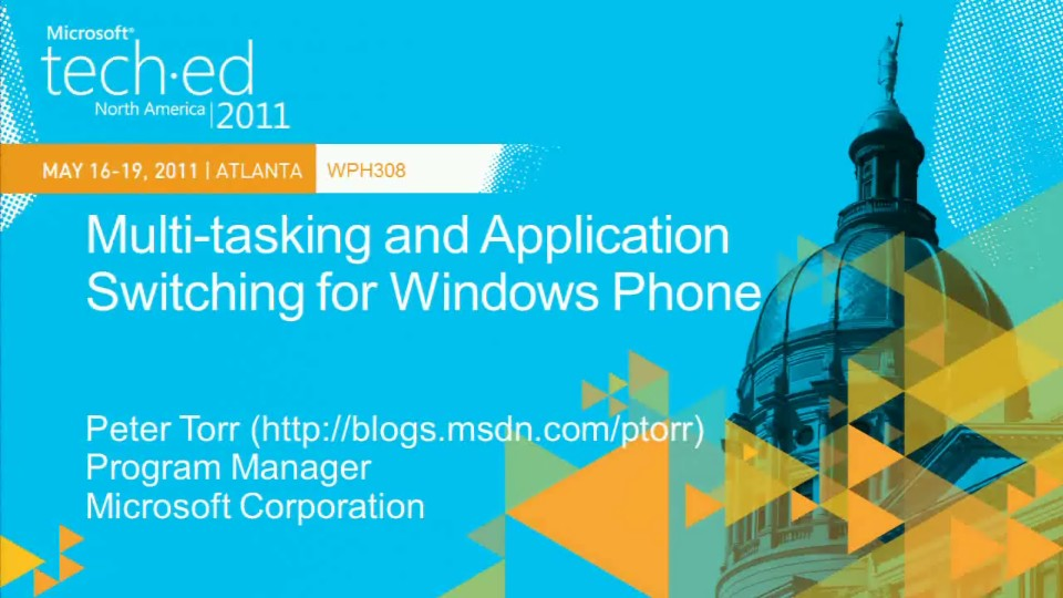 Multi-tasking and Application Switching for Windows Phone