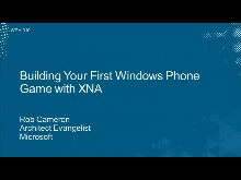 Building Your First Windows Phone Game with XNA