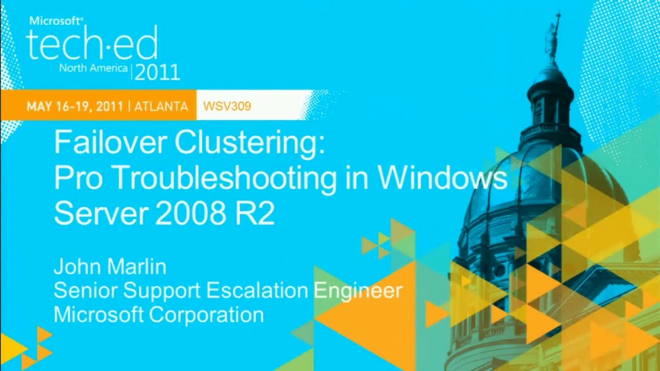 Failover Clustering: Pro Troubleshooting in Windows Server 2008 R2